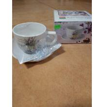 Levendulás kávés, teás csésze csészeljjal